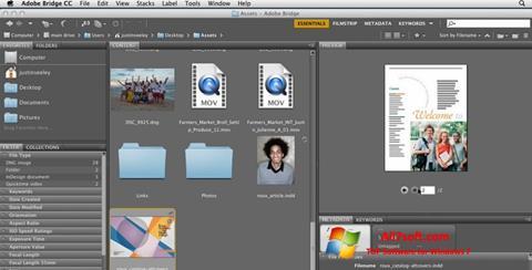 Ekraanipilt Adobe Bridge Windows 7