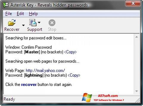 Ekraanipilt Asterisk Key Windows 7