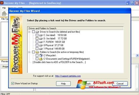 Ekraanipilt Recover My Files Windows 7