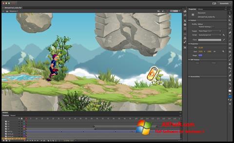Ekraanipilt Adobe Flash Professional Windows 7