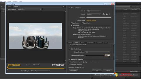 Ekraanipilt Adobe Media Encoder Windows 7