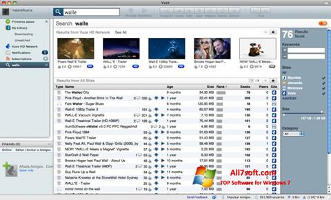 Ekraanipilt Vuze Windows 7
