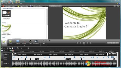 Ekraanipilt Camtasia Studio Windows 7