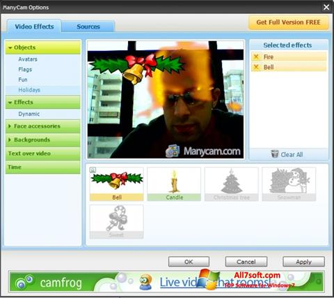 Ekraanipilt ManyCam Windows 7