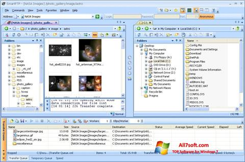 Ekraanipilt SmartFTP Windows 7