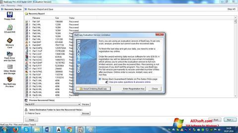 Ekraanipilt BadCopy Pro Windows 7