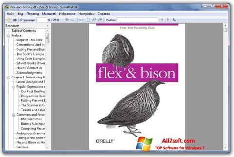 Ekraanipilt Sumatra PDF Windows 7