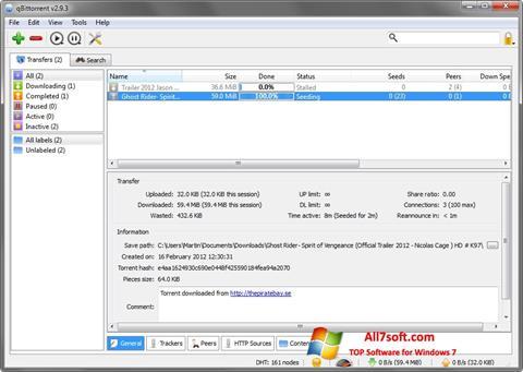 Ekraanipilt qBittorrent Windows 7