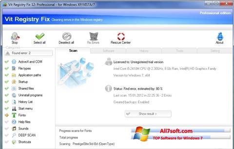 Ekraanipilt Vit Registry Fix Windows 7