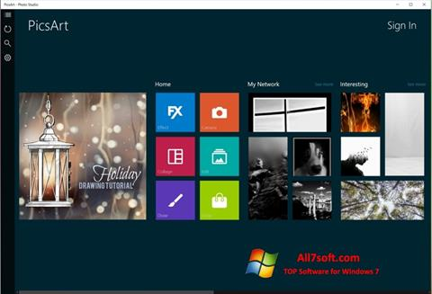 Ekraanipilt PicsArt Windows 7