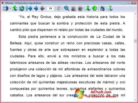 Ekraanipilt FBReader Windows 7