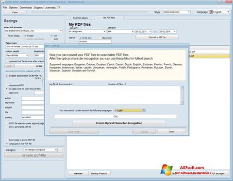 Ekraanipilt Scan2PDF Windows 7