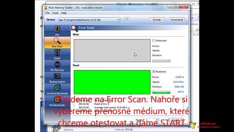 Ekraanipilt Flash Memory Toolkit Windows 7