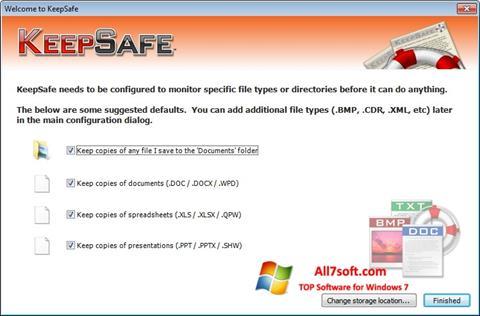 Ekraanipilt KeepSafe Windows 7