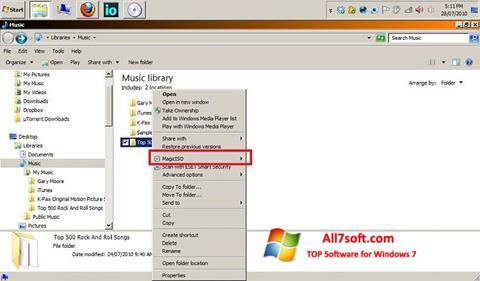 Ekraanipilt MagicISO Windows 7