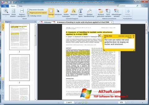 Ekraanipilt Nitro PDF Reader Windows 7