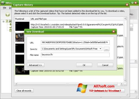 Ekraanipilt Free Video Catcher Windows 7