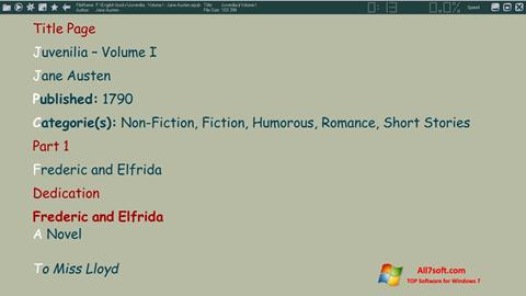 Ekraanipilt ICE Book Reader Windows 7