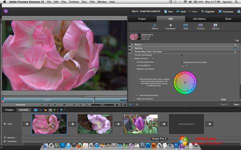 Ekraanipilt Adobe Premiere Elements Windows 7