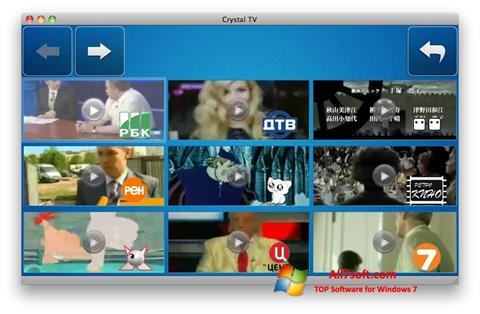Ekraanipilt Crystal TV Windows 7