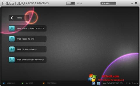 Ekraanipilt Free Studio Windows 7