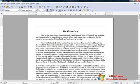 Ekraanipilt OpenOffice Windows 7