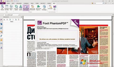Ekraanipilt Foxit Phantom Windows 7