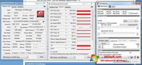 Ekraanipilt ATI Tray Tools Windows 7