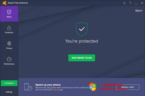 Ekraanipilt Avast Free Antivirus Windows 7