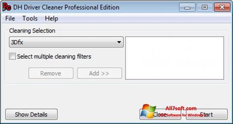 Ekraanipilt Driver Cleaner Windows 7