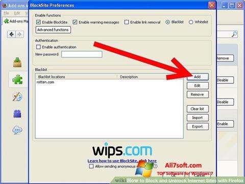Ekraanipilt uBlock Windows 7