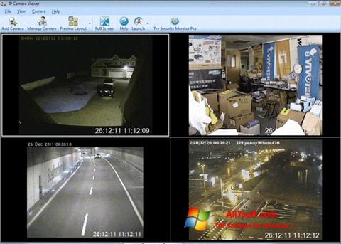 Ekraanipilt IP Camera Viewer Windows 7
