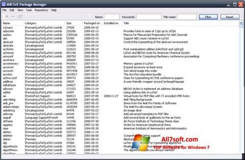 Ekraanipilt MiKTeX Windows 7