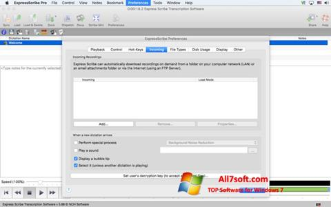 Ekraanipilt Express Scribe Windows 7