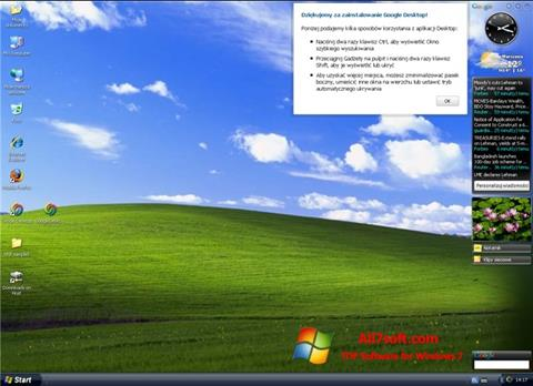 Ekraanipilt Google Desktop Windows 7