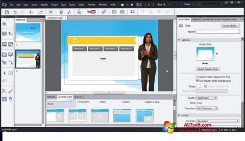 Ekraanipilt Adobe Captivate Windows 7