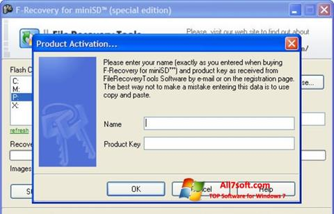 Ekraanipilt F-Recovery SD Windows 7