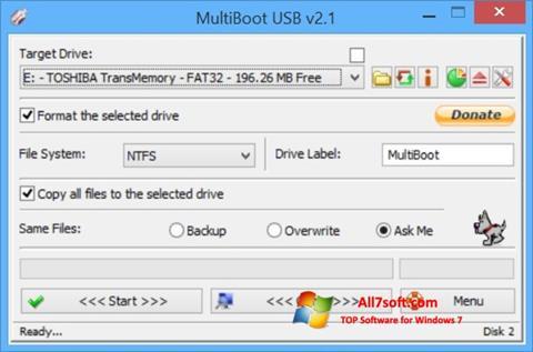 Ekraanipilt Multi Boot USB Windows 7