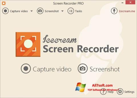 Ekraanipilt Icecream Screen Recorder Windows 7