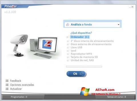 Ekraanipilt PrivaZer Windows 7