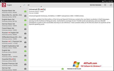 Ekraanipilt ABBYY Lingvo Windows 7