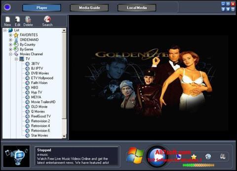 Ekraanipilt Online TV Live Windows 7