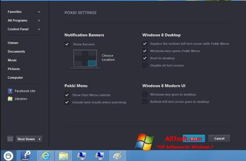 Ekraanipilt Pokki Windows 7