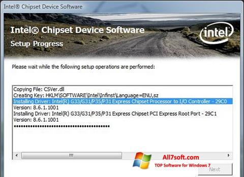 Ekraanipilt Intel Chipset Device Software Windows 7
