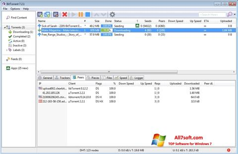Ekraanipilt BitTorrent Windows 7