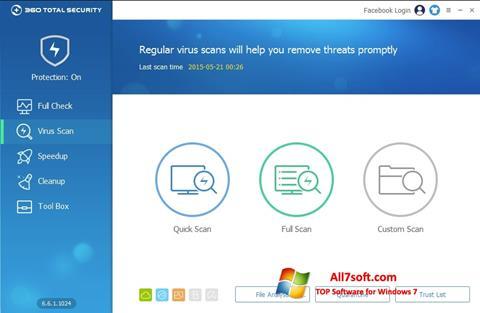 Ekraanipilt 360 Total Security Windows 7