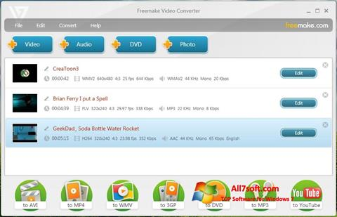 Ekraanipilt Freemake Video Converter Windows 7