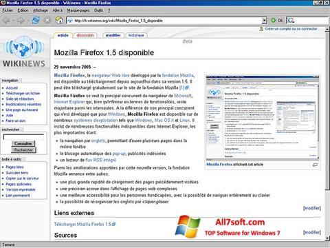 Ekraanipilt Mozilla Firefox Windows 7