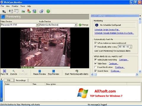 Ekraanipilt WebCam Monitor Windows 7