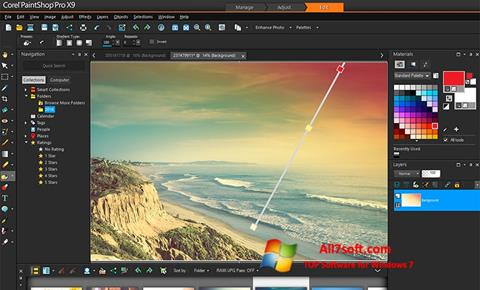 Ekraanipilt PaintShop Pro Windows 7